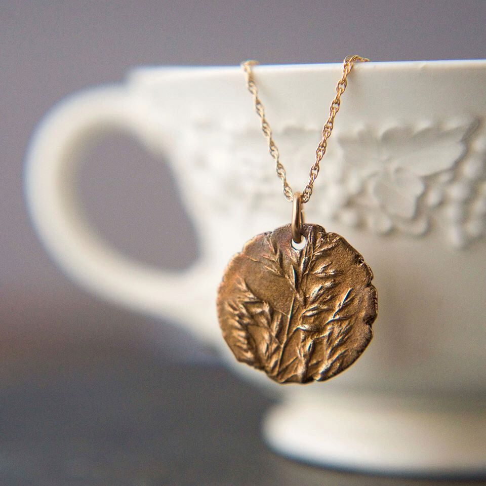 "Kentucky Bluegrass in Bronze, Pendant with Gold-Fill Chain Necklace, ""Wild and Free"" by GayleDowell on Etsy https://www.etsy.com/listing/122667580/kentucky-bluegrass-in-bronze-pendant"