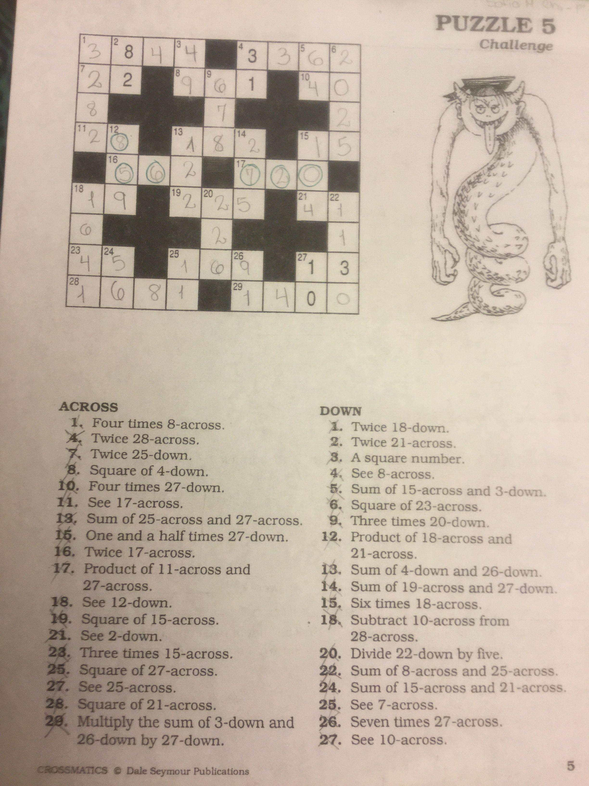 Puzzle 5 Puzzle Special Education Crossword Puzzle [ 3264 x 2448 Pixel ]