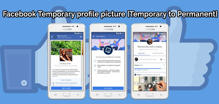 What is a temporary profile picture? how to set the ...