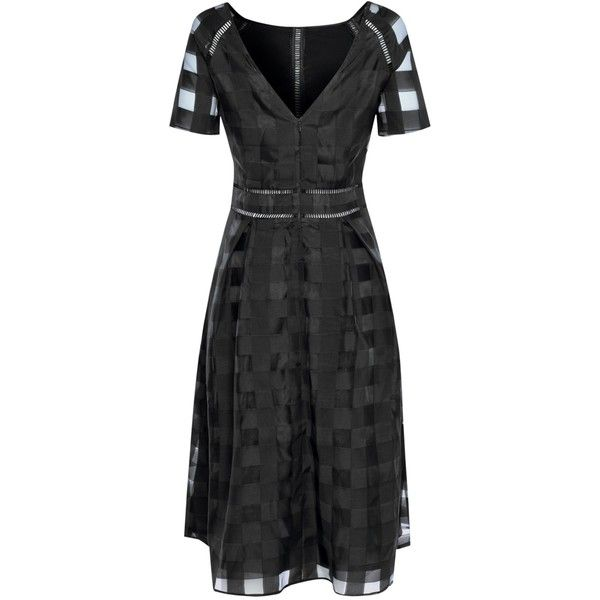 True Decadence Short Sleeve Midi Dress, Black ($62) ❤ liked on Polyvore featuring dresses, short sleeve skater dress, v-neck maxi dresses, long-sleeve skater dresses, v neck maxi dress and short-sleeve skater dresses