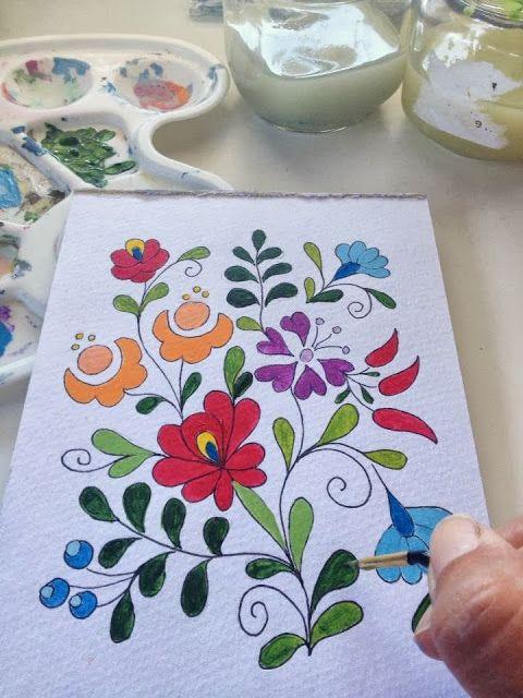 Rita Barton: Painted Hungarian Folk Art Flowers | creativ /dolgok ...