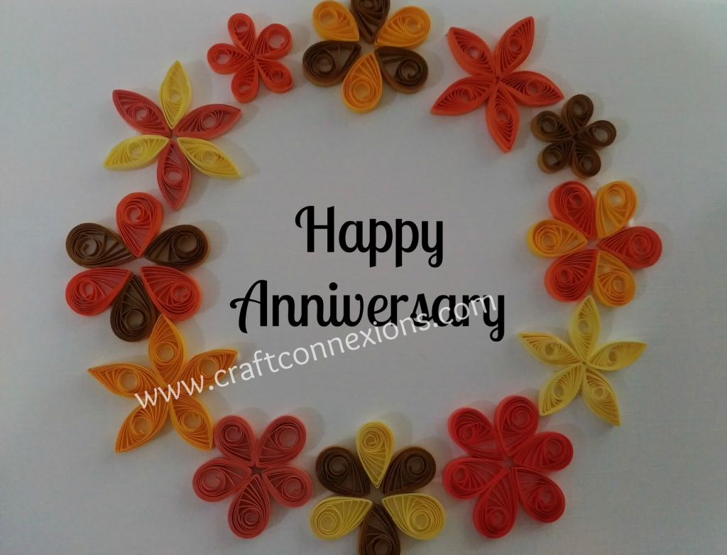 Happy anniversary card quilling anniversary card tutorial
