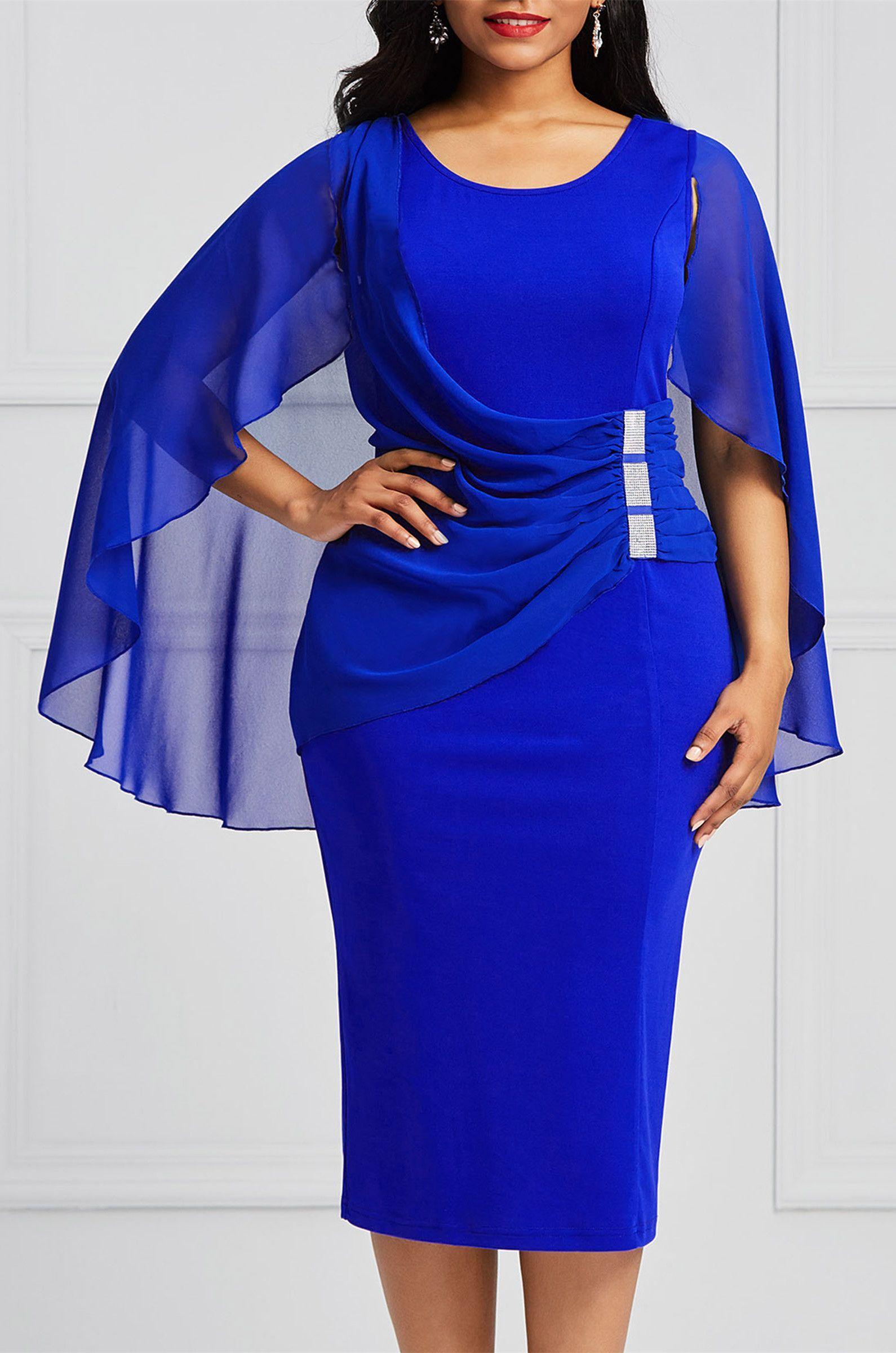 Bodycon midcalf batwing sleeve womenus dress in пышечки