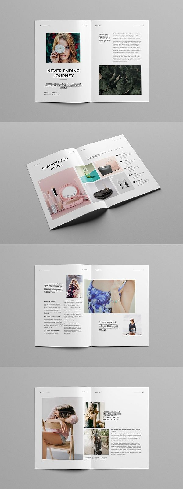 creative minimal fashion magazine エディトリアル pinterest