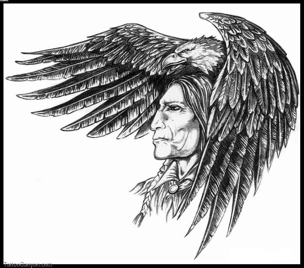 Indian Cherokee Warrior Tattoo Design Indian Tattoo Design Native American Tattoos Indian Tattoo