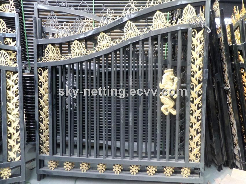 Beautiful Residential Wrought Iron Gate Designs/Models House Gate   China  Newest Popular Design Wrought Iron Door Gate;european Wrought Iron Home Gate