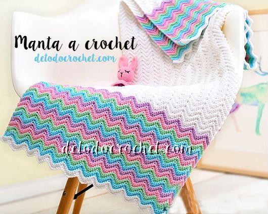 Todo crochet   Pinterest   Manta, Puntos y Crochet para bebes