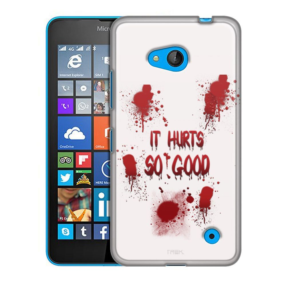 Nokia Lumia 640 It Hurts Soo Good on White Slim Case