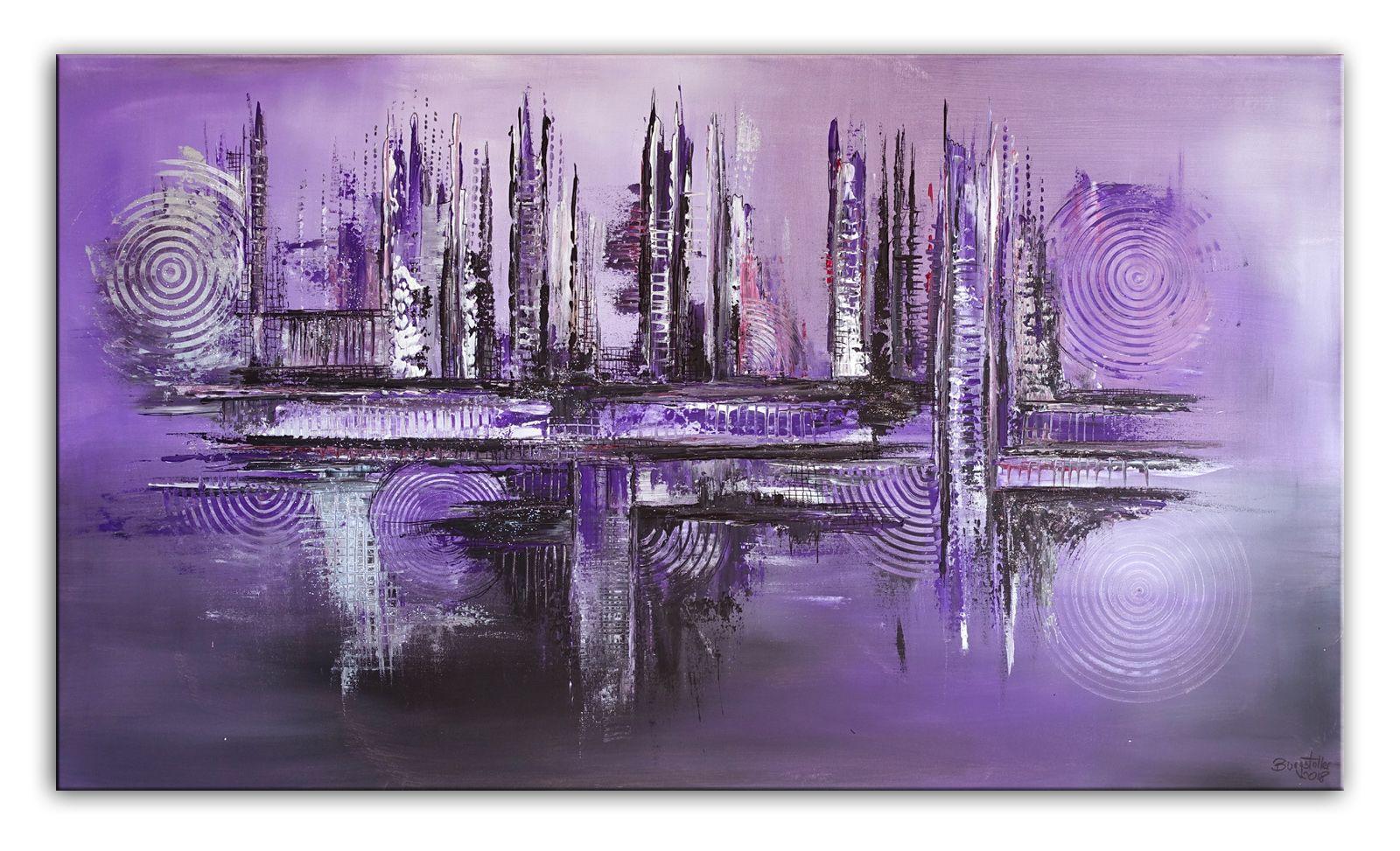 Abstrakte Malerei Abstraktes Kunst Bild Violett Wandbild