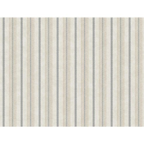 York Wallcoverings SR1552 Stripes Resource Library Gray & Cream Shirting Stripe Wallpaper Grey/Cream Transitional | Bellacor #graystripedwalls