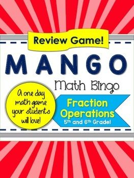Your students will love this review game all about fractions.  Simplifying, comparing, adding, subtracting, multiplying and dividing. (both proper fractions and mixed numbers). This review is designed to prepare your students through the Common Core Standards 6.NS.1.