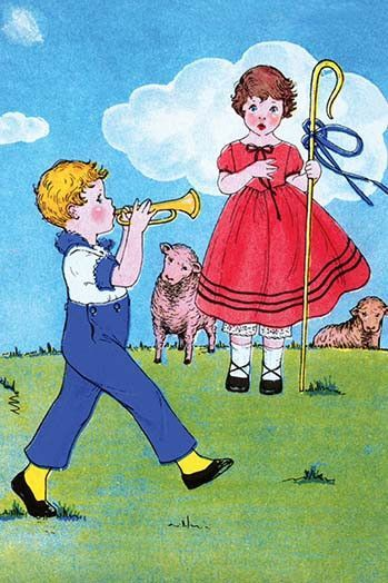 c5a54e8d236b Little boy blue blows his horn as he parades past Bo Peep and her sheep.  More