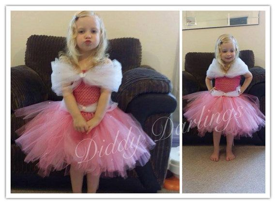 Sleeping Beauty Tutu Dress. Inspired Handmade por DiddyDarlings