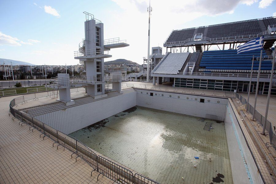 Diving fell of aquatics center; Eight years after Greece spent ~$15 billion to stage the 2004 Summer Olympics, some of those once-gleaming venues are crumbling. The economy is a part of it, but so is the fact that many of these venues were built only for sports with little local interest (like softball), and now have no use. A number of Greek officials admitted to the AFP that there was a lack of planning, and no one considered what they would be used for after the Games. Despite all that…