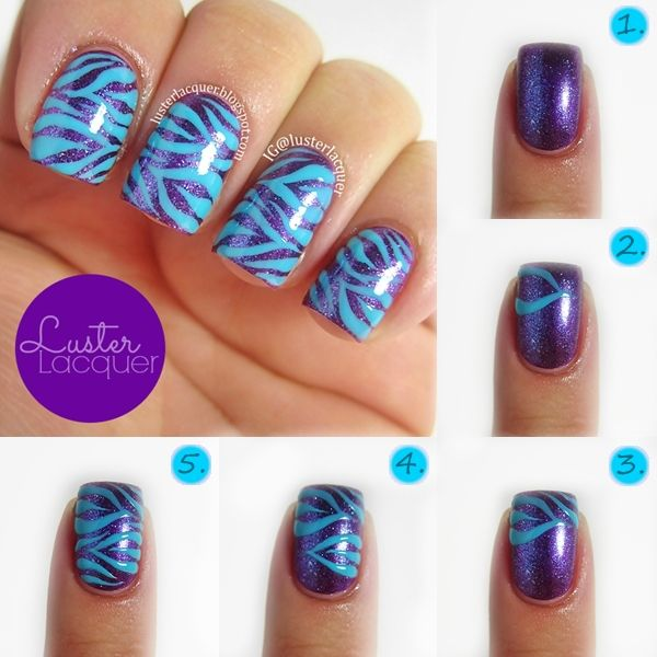 Zebra Print Nails Tutorial Confetti Center Stage Topped With Cand Re Lil