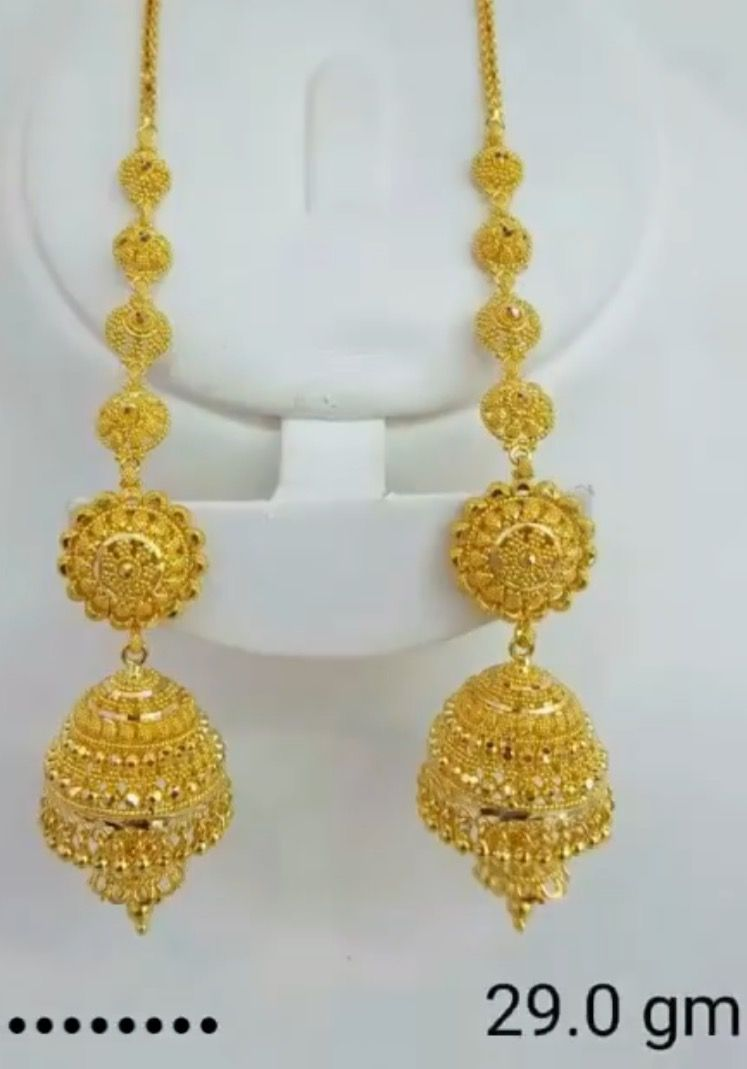 Gold Earing Bridal Gold Jewellery Designs Gold Wedding Jewelry Jewelry Bracelets Gold