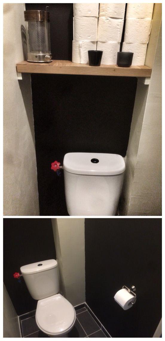 Toilette Peinture Noir Ardoise Et Nougat | Wc | Pinterest