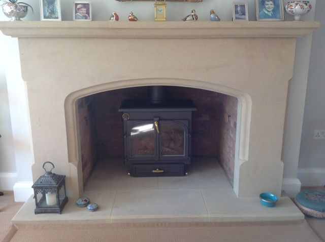 Sandstone fireplace supplied to Cheshire
