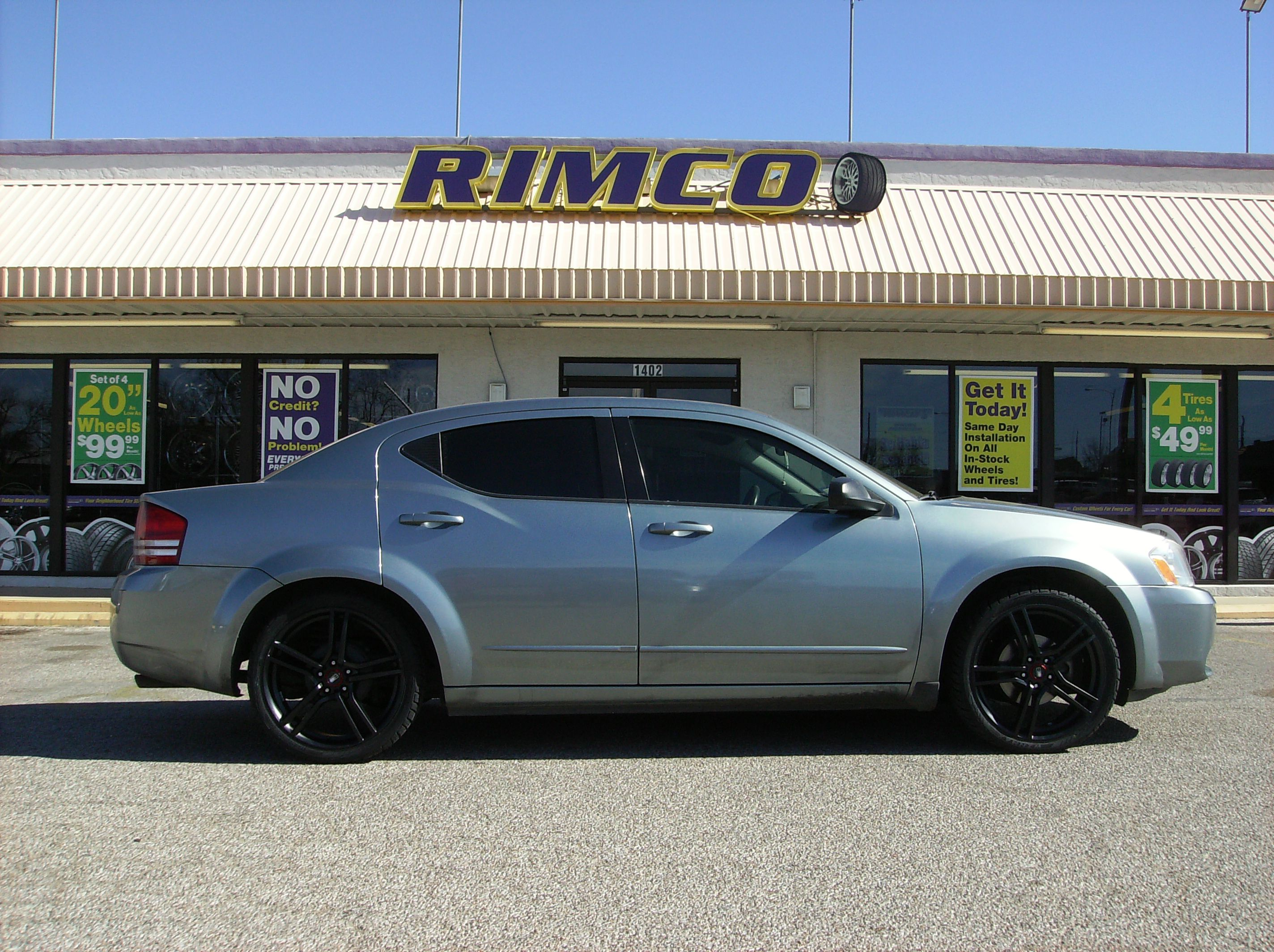 Check out jessica slack s 2008 dodge avenger sporting vento black and machined 20x7 5 and
