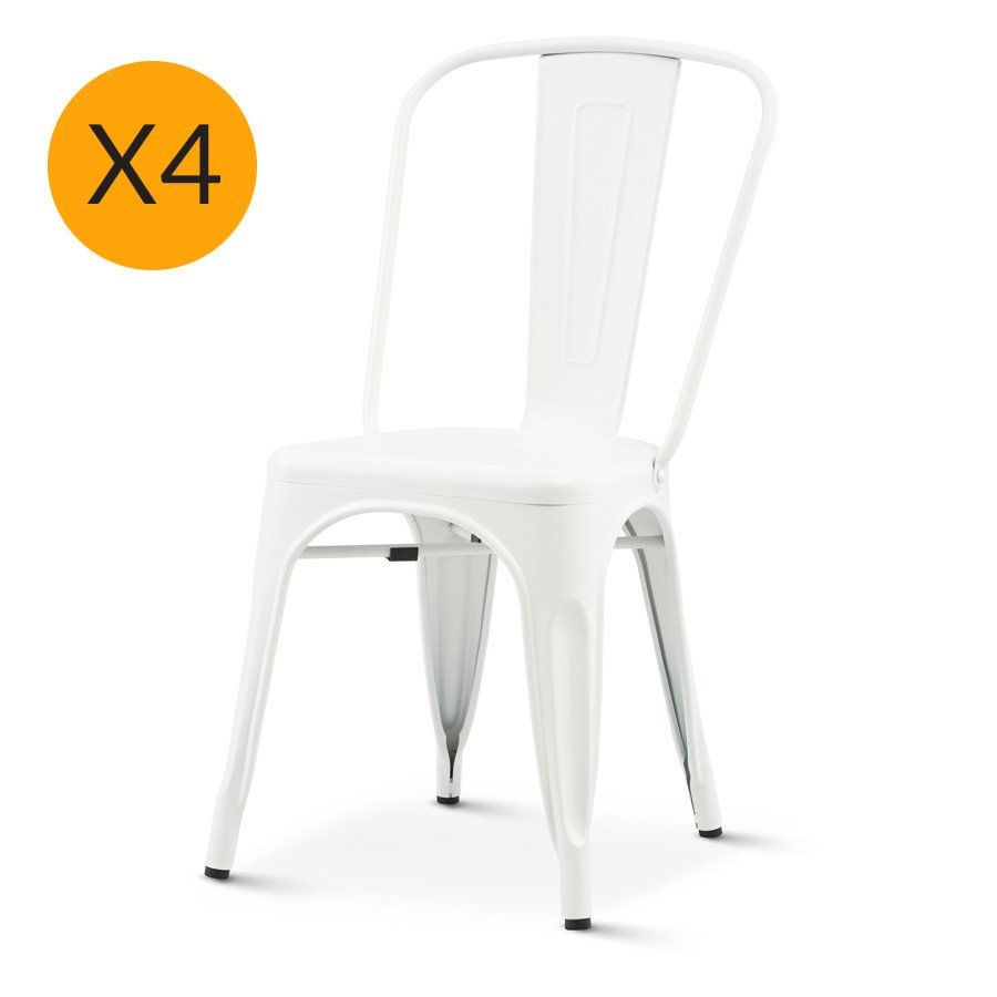tolix x4 replica xavier pauchard chair matt white black mango