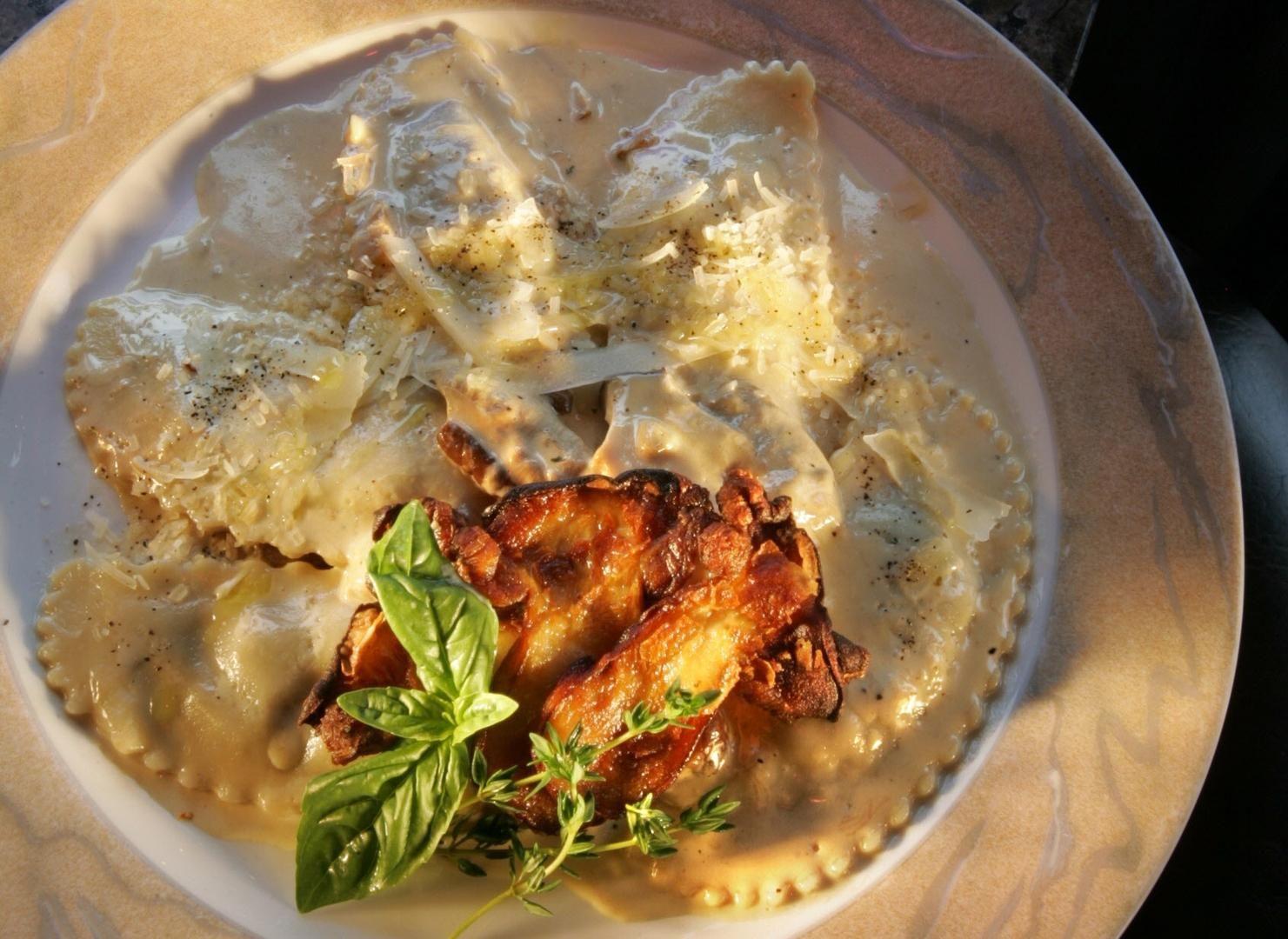 Throwback Thursday: Mediterraneo's Portobello Mushroom Agnolotti in Porcini Cream Sauce - Entertainment & Life - providencejournal.com - Providence, RI