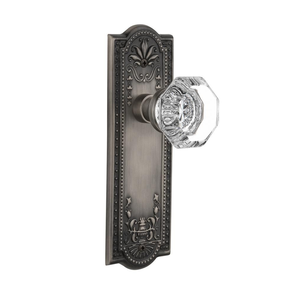 Backset Antique Pewter Privacy Waldorf Door Knob