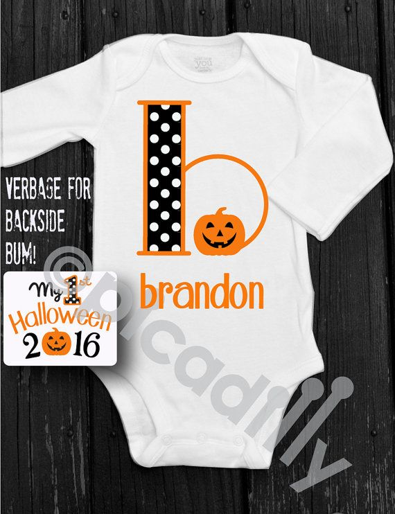 fed076cee My First HALLOWEEN Onesie for Baby Boy with by ShopPicadilly ...
