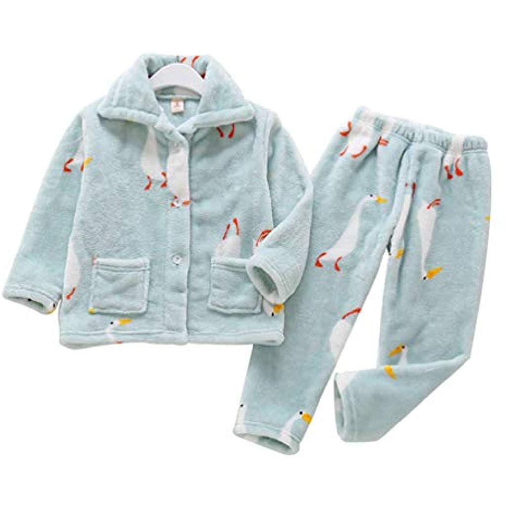 45a559afe083b Heeyuan Enfant Décontracté Dessin Animé Modèle Impression Ensembles de  Pyjama des Gamins Confortable Vêtements de Nuit