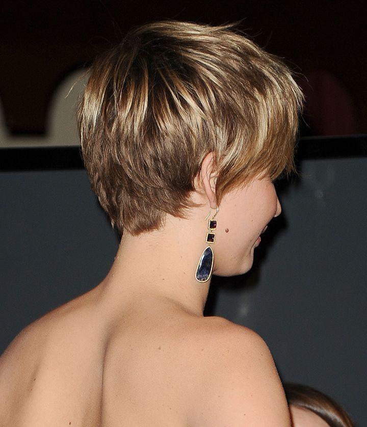 Jennifer Lawrence Pixie Cut Back