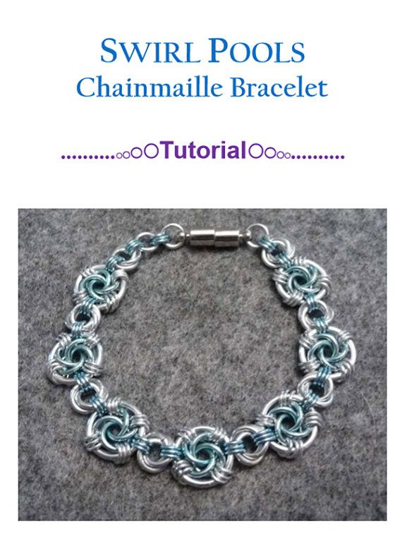 Swirls Bracelet Chainmaille Tutorial | Draht arbeit, Schmuck zum ...