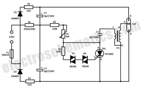 strobe light circuit schematic electronice pinterest circuits rh pinterest com led strobe light circuit diagram police strobe light circuit diagram