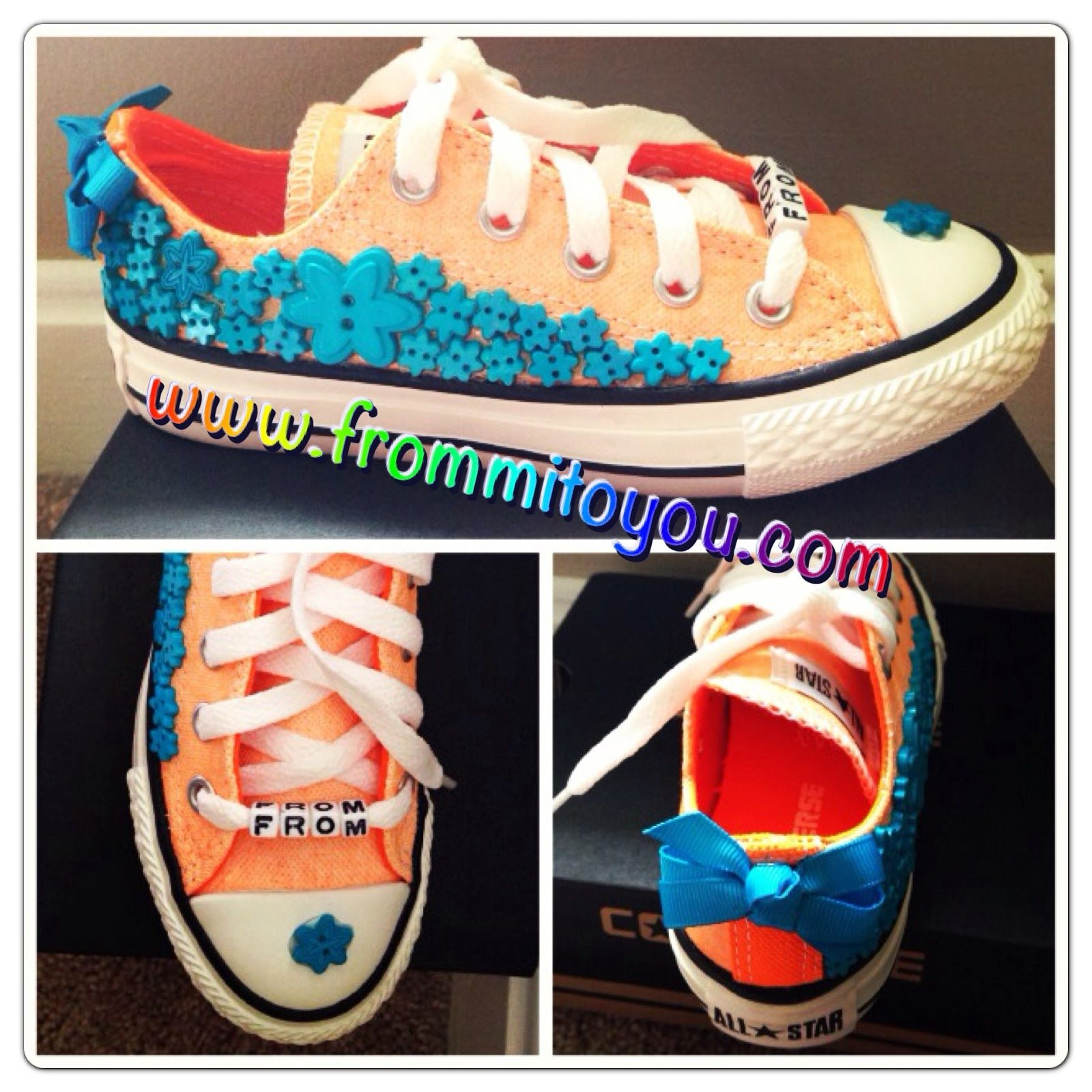 Shoe Gallery by From Mi To You  #converse #shoes #flowers #converse #chucktaylor #buttons #kids #girl #bow #frommitoyou