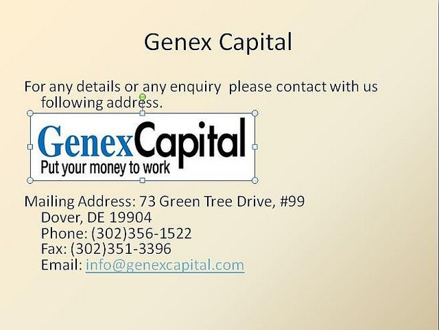 Genex Capital buys structured settlements and annuity payments and resells them to institutional investors, while offering quick lump sum money to the person. Have served thousands of customers and done business worth 200usd till date, and led by str Wanting to know how to plan for your retirement and ensure you are financially secure.  A retirement planning guide is a must.  Click the link below to prepare and plan for your retirement