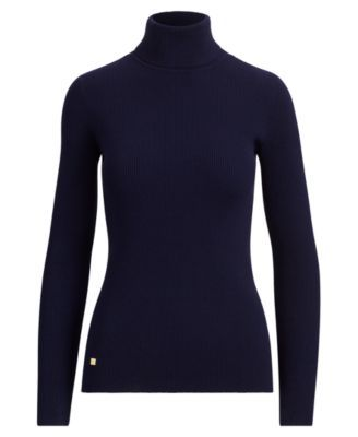 3b6cf29f26b7c Lauren Ralph Lauren Ribbed Turtleneck Sweater - Mascarpone CreamBlack XXL