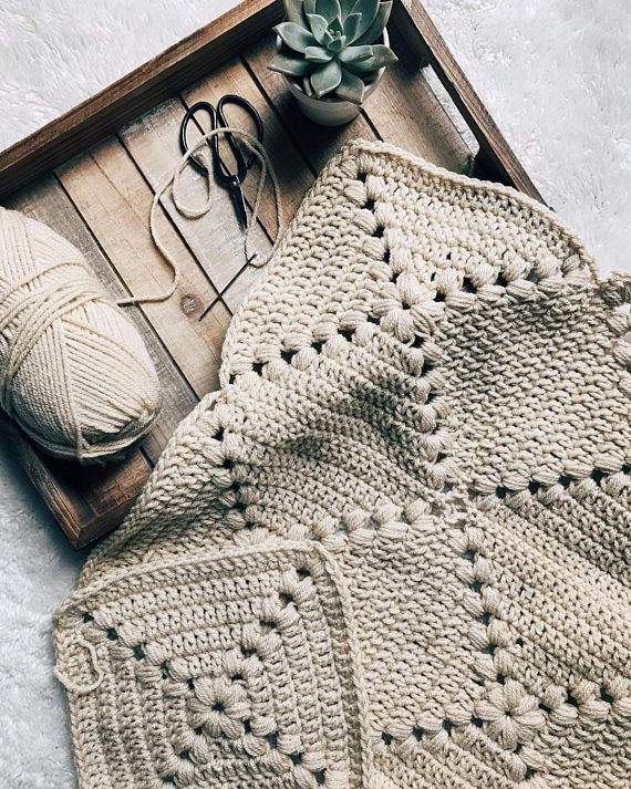 PATTERN: The Farmhouse Square Easy Crochet Granny Square | SòMeDãy I ...