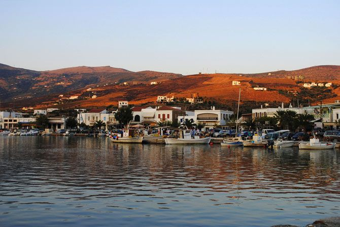 Gavrio village Andros Island Cyclades