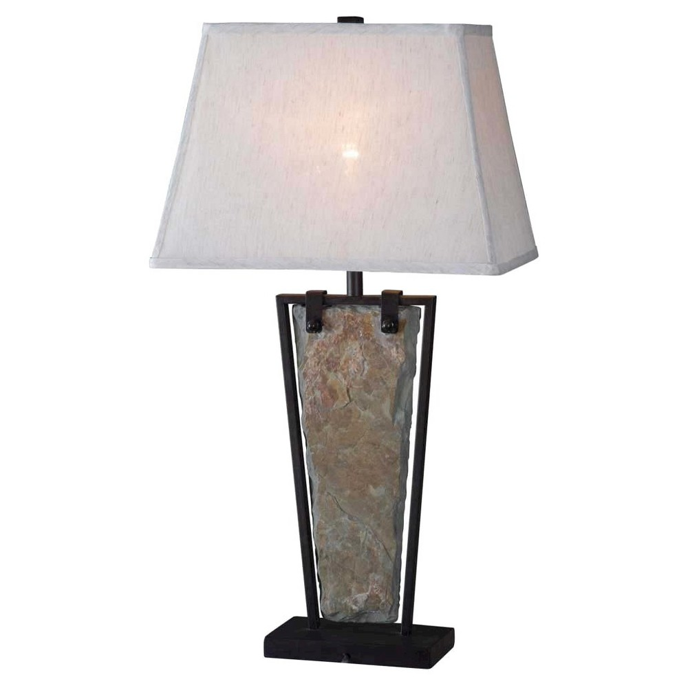 Kenroy Home Table Lamp Slate Table Lamp Green Table Lamp