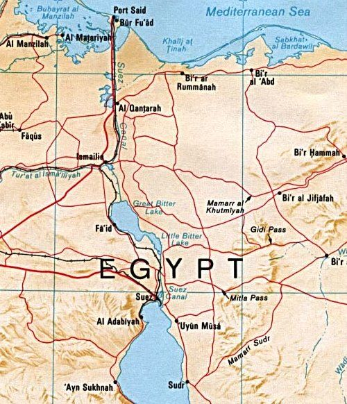 War Of Attrition Involved Fighting Between Israel And Egypt - Map of egypt jordan and israel