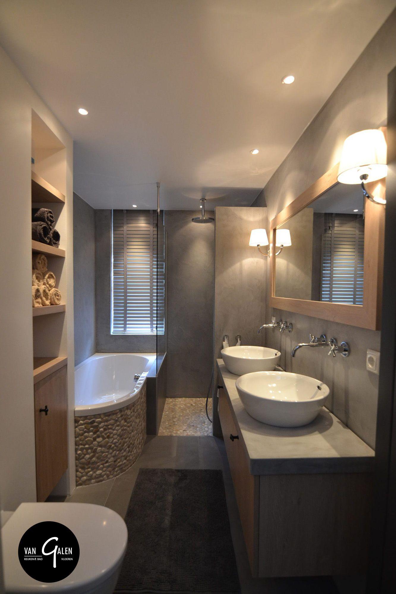 landelijke maatwerk badkamer met natuurlijke materialen ron stappenbelt