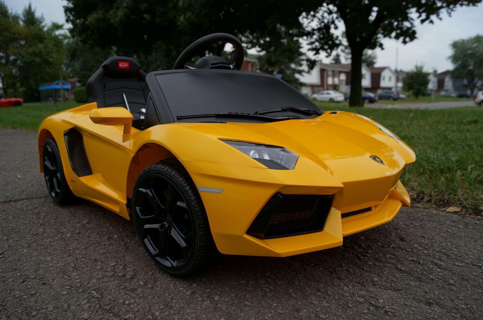 lamborghini aventador ride on toy car remote control battery