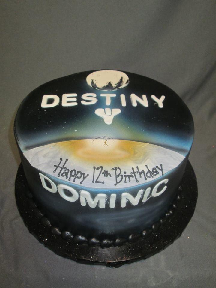 Destiny gamer birthday cake for boys and men boy