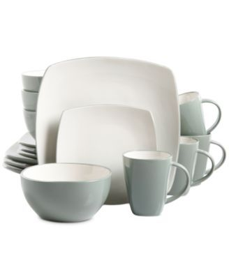 Gibson Soho Lounge 16 Piece Celadon Dinnerware Set  sc 1 st  Pinterest & Gibson Soho Lounge 16 Piece Celadon Dinnerware Set | Kitchen idea ...