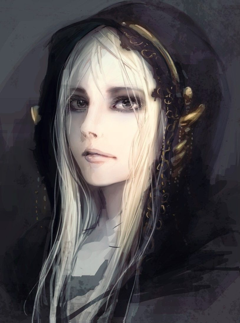 White Hair Woman Dark Souls Dark Souls Art Character Portraits