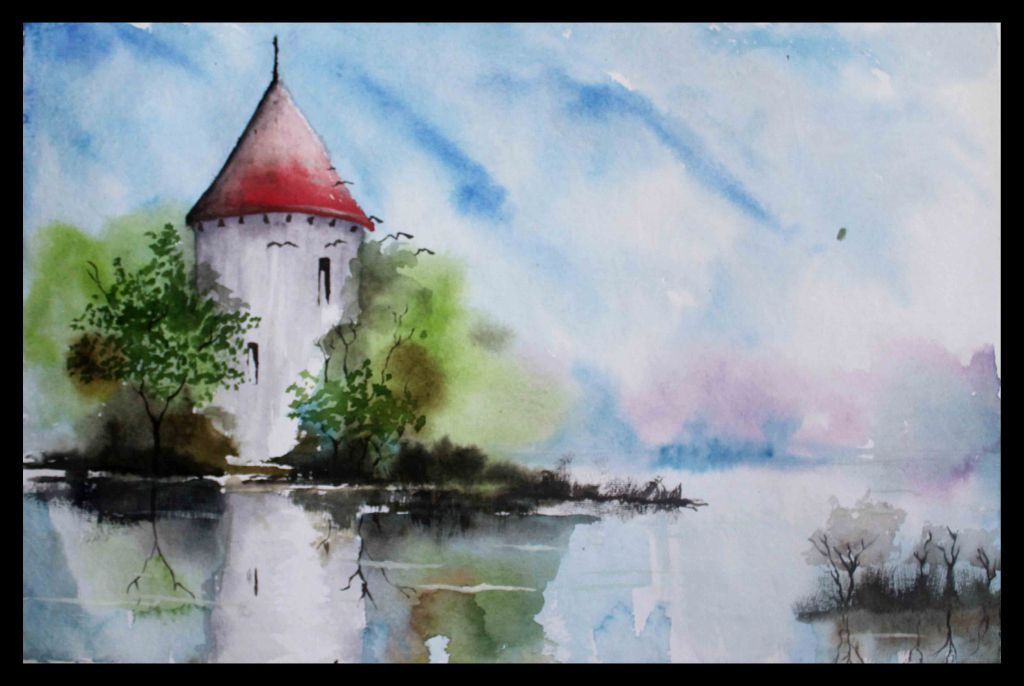 Simple Watercolor Landscapes Easy Landscape Paintings For Beginners