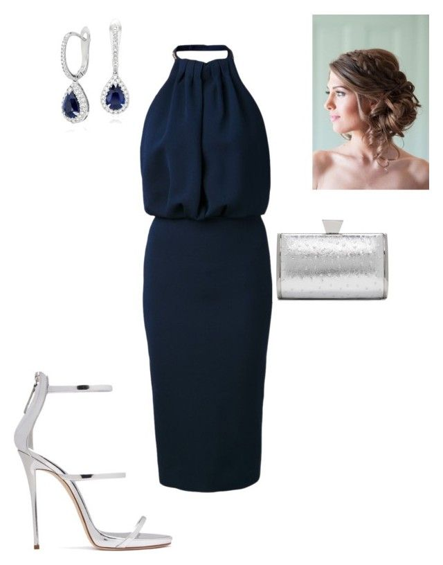 """Evening"" by cgraham1 on Polyvore featuring Victoria Beckham, Giuseppe Zanotti, Badgley Mischka and Blue Nile"