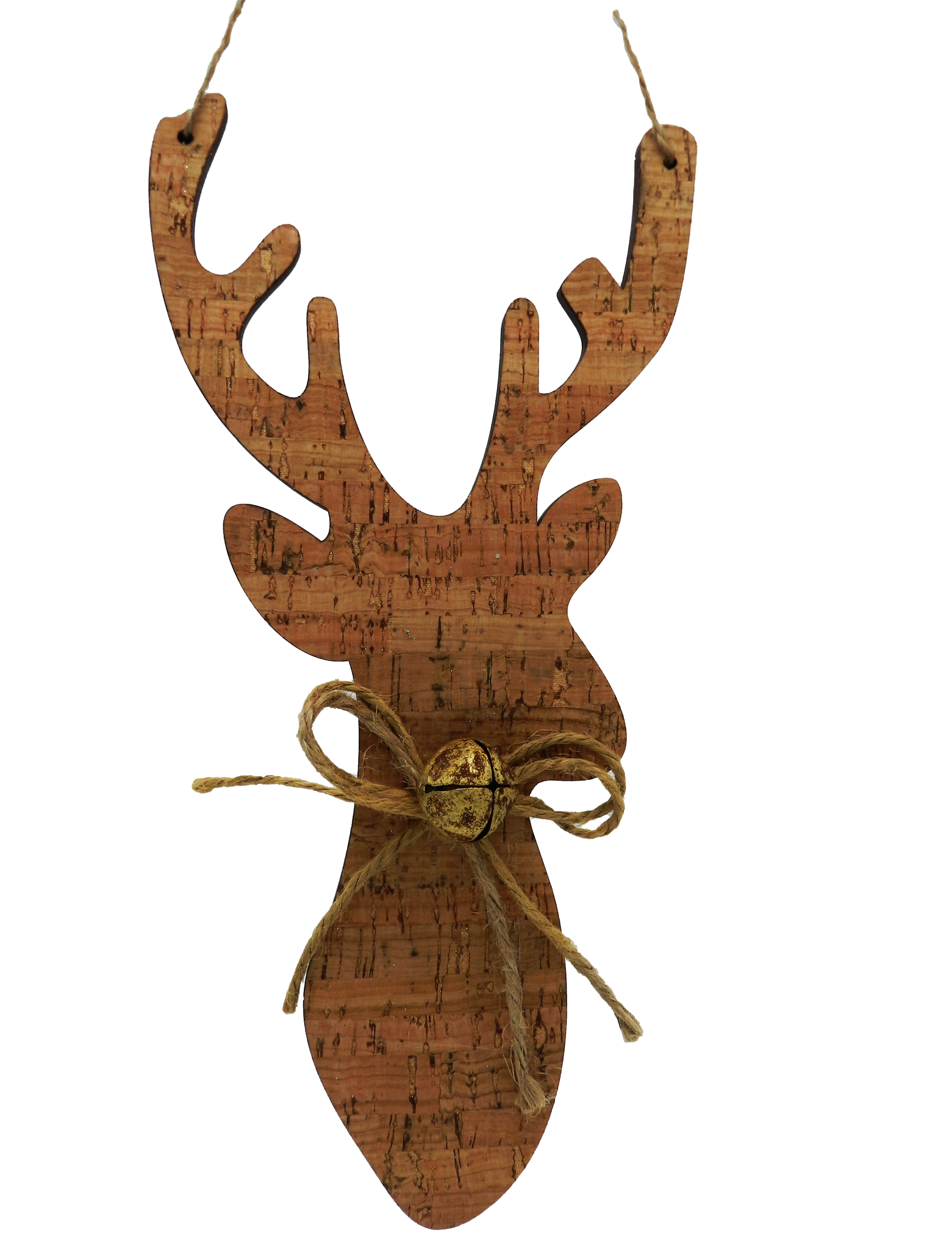 Cork Deer Head Ornament