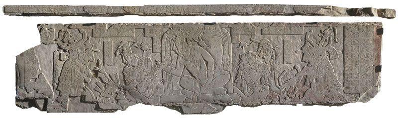 Tablero de trono del Templo XXI de Palenque, Chiapas.   Dónde Ir