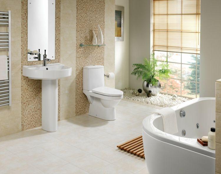 badezimmer bilder elegant akzente mosaik beige waschbecken - badezimmer beige grau