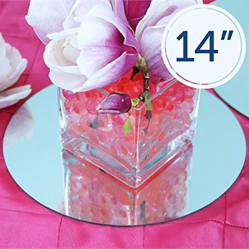 12 Pc X Round 14 Glass Mirror Wedding Table Decoration Balsacircle Http Www Mirror Wedding Table Decoration Mirror Wedding Centerpieces Centerpiece Supplies