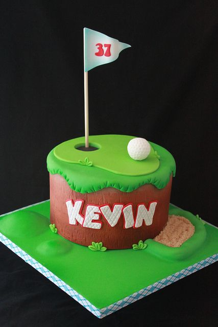 Golf Cake By Andreas SweetCakes Via Flickr Learn How To Create Your Own Amazing Cakes Mycakedecoratingcoza Baking Golfcake